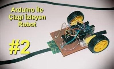 Arduino İle Çizgi İzleyen Robot v1.00 2. Bölüm