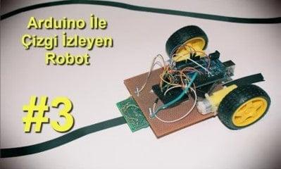 Arduino İle Çizgi izleyen Robot v1.00 3.Bölüm