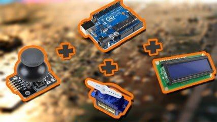 LCD-Joystick-Servo-ile-Arduino-Uygulamasi