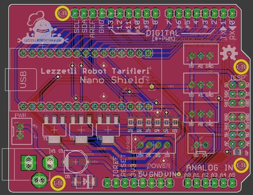 arduino nano shield board
